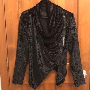 Blanknyc black moto velour jacket